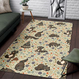 Raccoon Pattern Area Rug