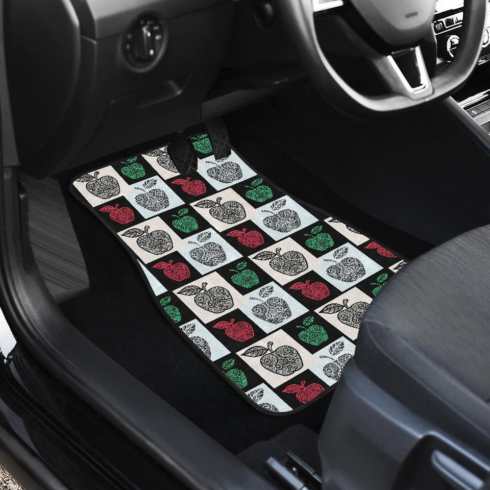 Apple Tribel Pattern Front Car Mats