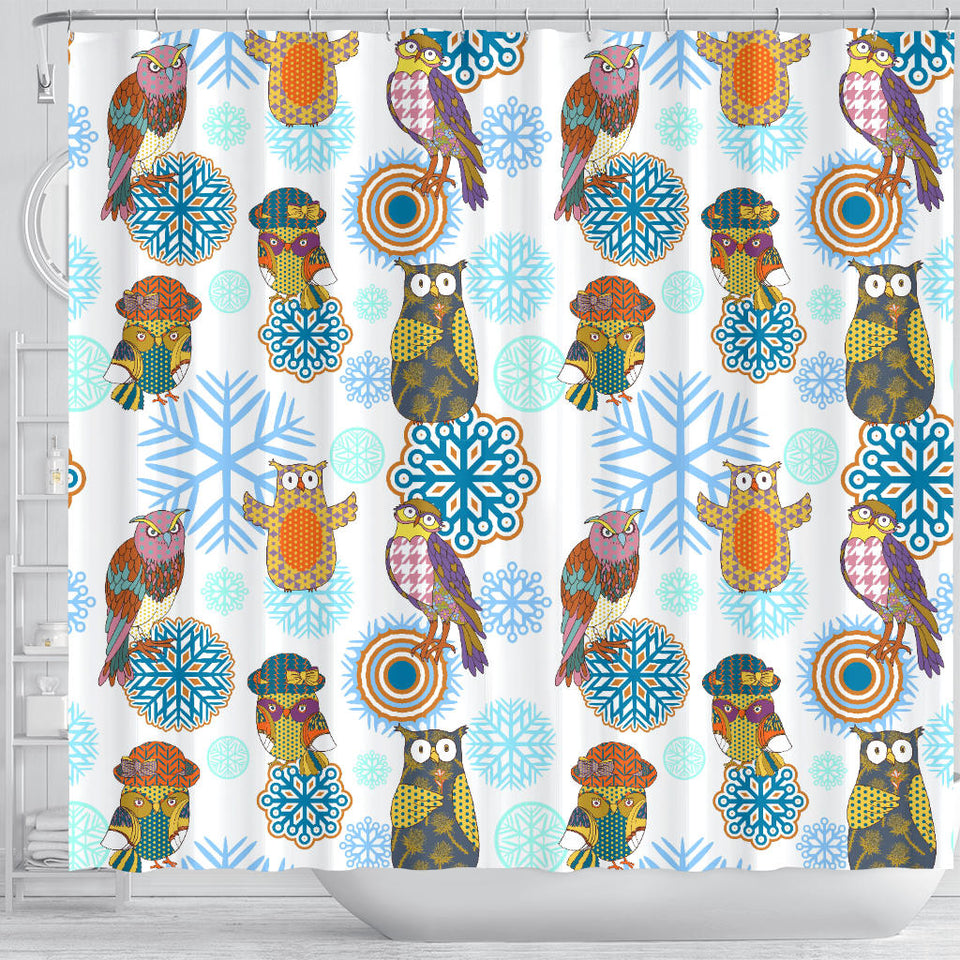 Owl Pattern Shower Curtain Fulfilled In US