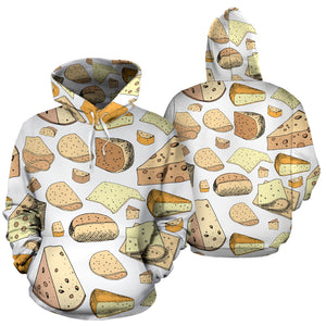 Cheese Pattern Theme Men Women Pullover Hoodie