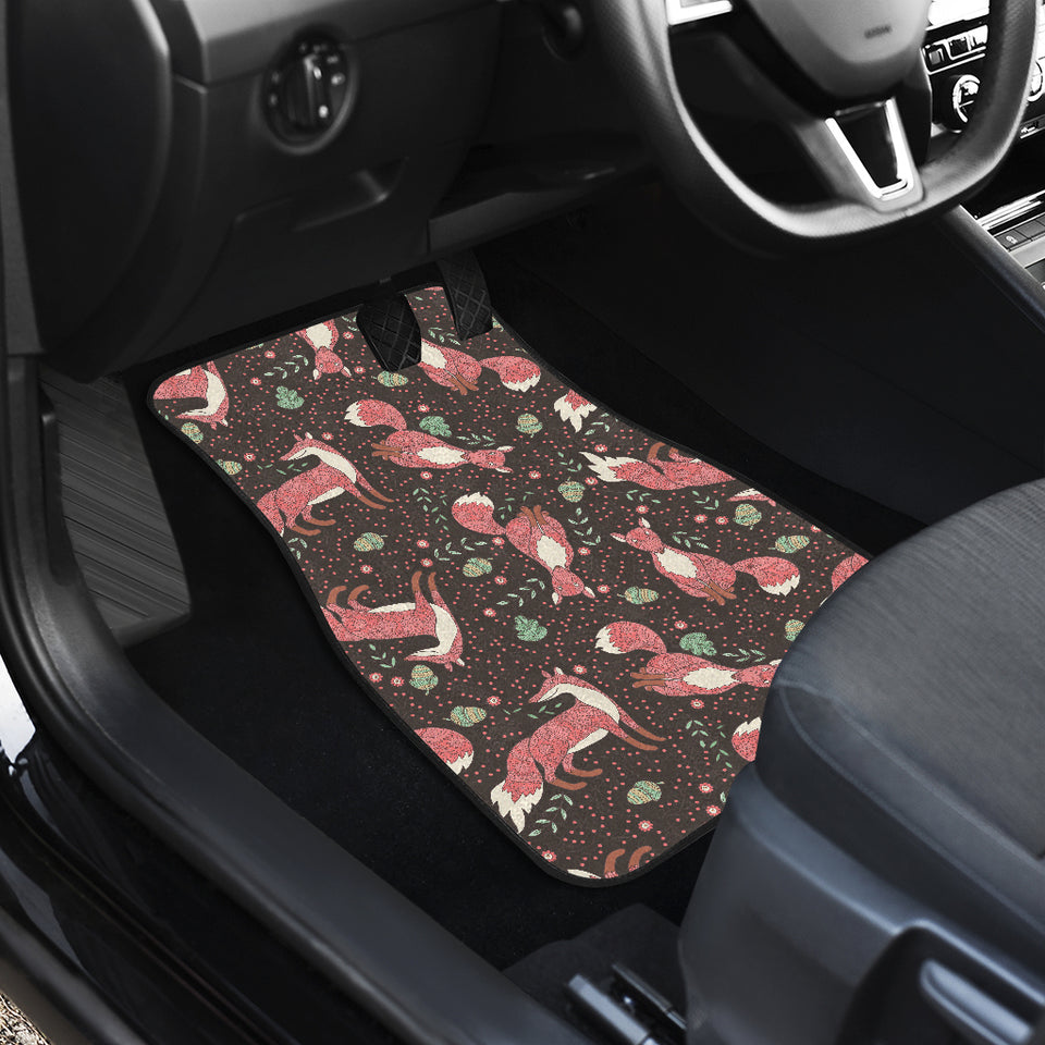 Fox Tribal Nut Pattern Front Car Mats
