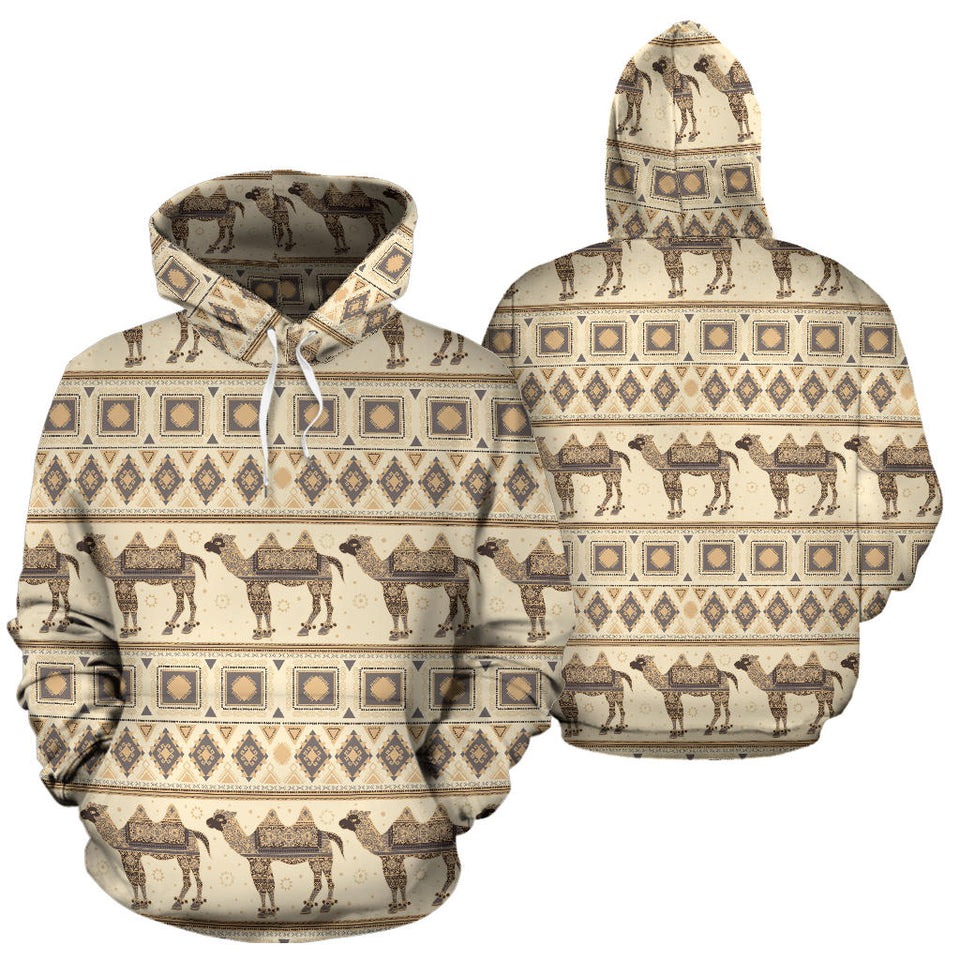 Traditional Camel Pattern Ethnic Motifs Men Women Pullover Hoodie