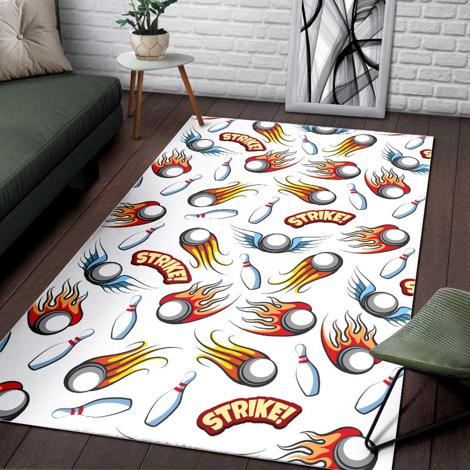 Bowling Strike Pattern Area Rug