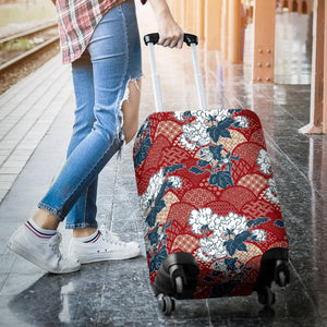 Red Theme Japanese Pattern Luggage Covers
