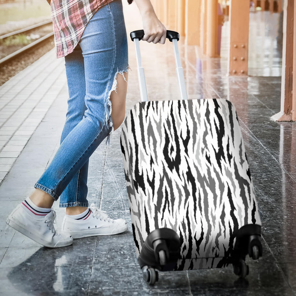 Gray Bengal Tiger Pattern Luggage Covers