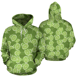 Lime Pattern Background Men Women Pullover Hoodie