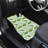 Sliced Cucumber Leaves Pattern Front Car Mats
