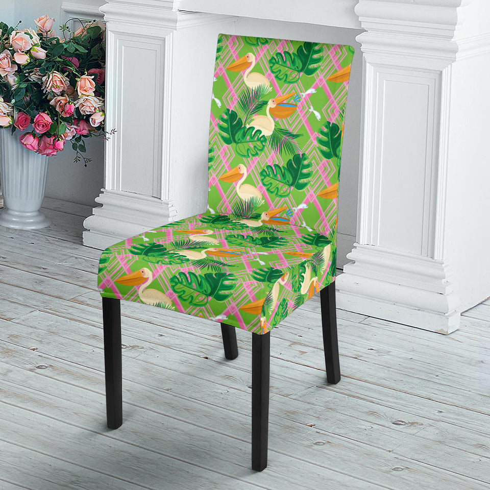 Pelican Pattern Print Design 05 Dining Chair Slipcover
