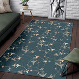 Airplane Circle Pattern Area Rug