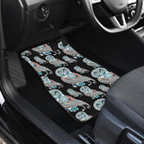 Owl Tribal Pattern Front Car Mats