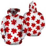 Red Maple Leaves Pattern Men Women Pullover Hoodie