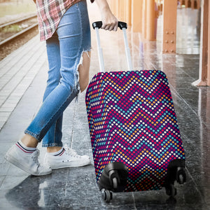 Zigzag Chevron Pokka Dot Aboriginal Pattern Luggage Covers