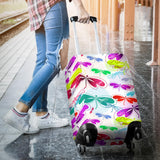 Colorful Dragonfly Pattern Luggage Covers