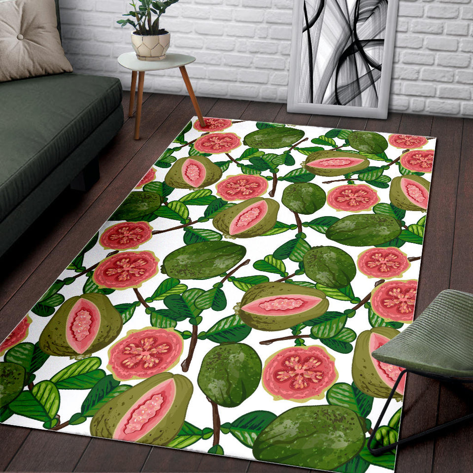 Guava Leaves Pattern Area Rug