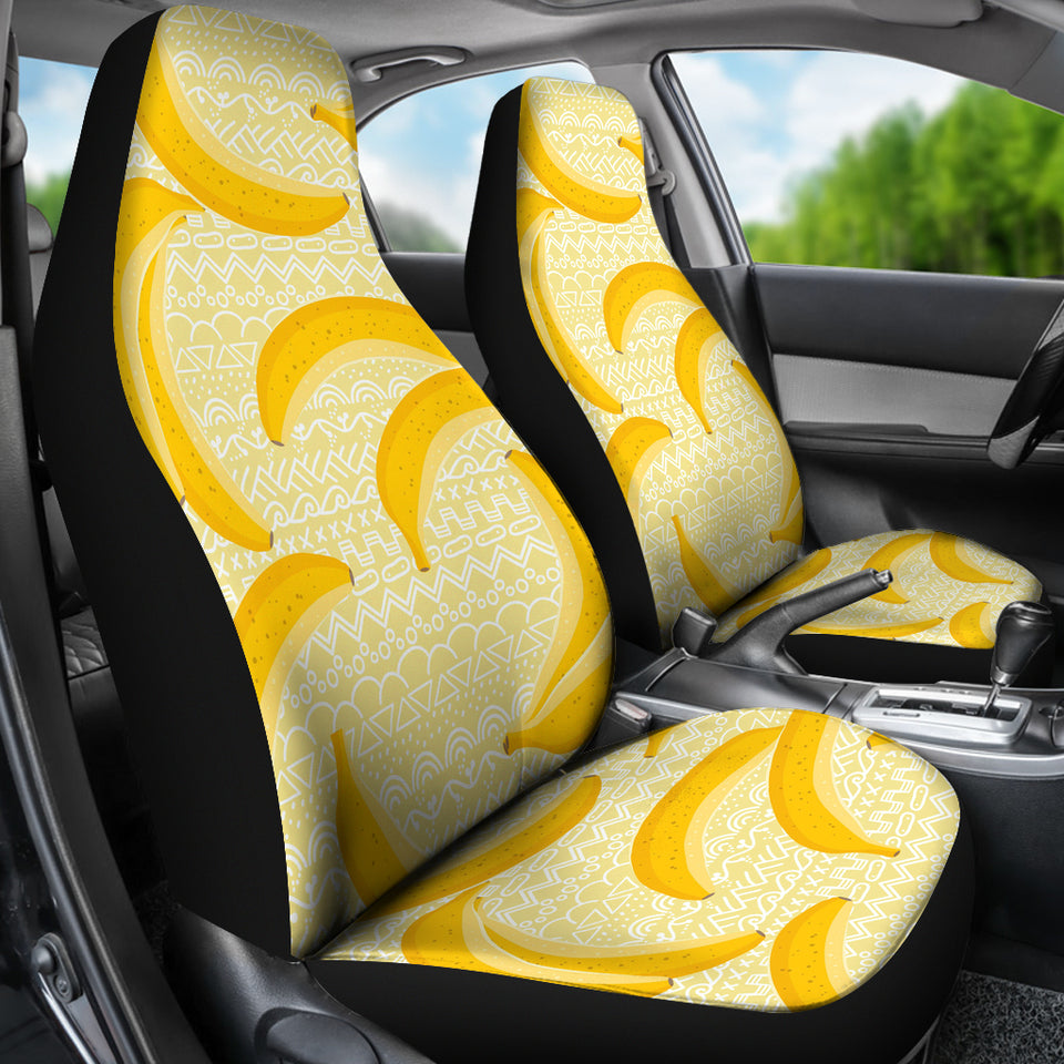 Banana Pattern Tribel Background Universal Fit Car Seat Covers