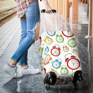 Colorful Clock Pattern Luggage Covers