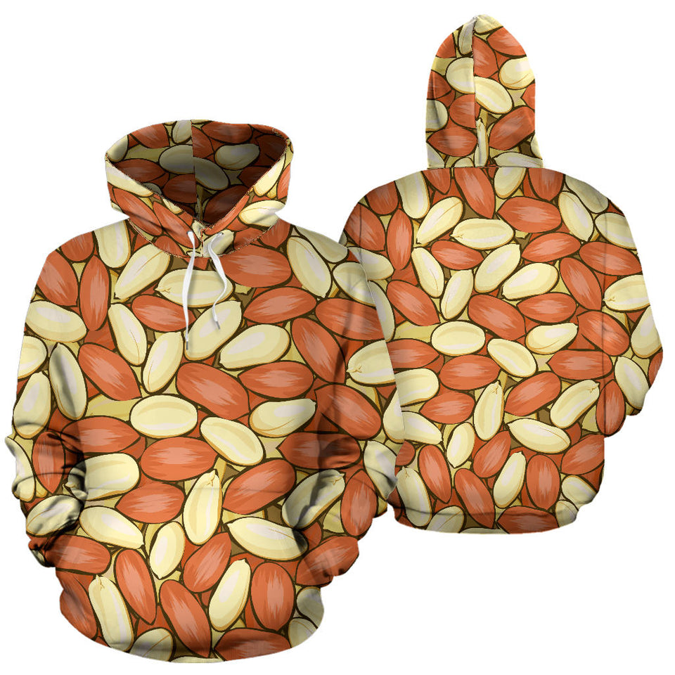 Peanut Pattern Background Pullover Hoodie