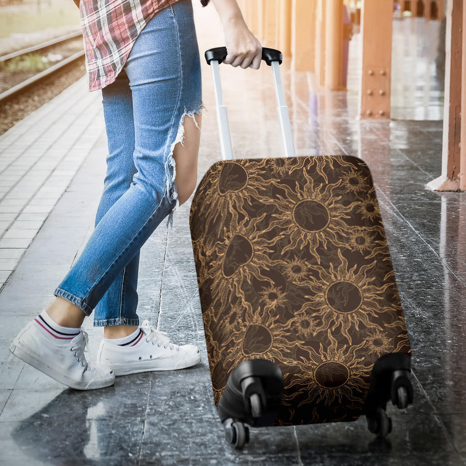 Sun Pattern Theme Luggage Covers