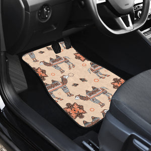 Camel Tribal Pattern Front Car Mats