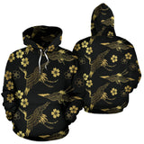 Gold Japanese Theme Pattern Pullover Hoodie