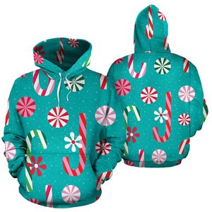 Christmas Candy Pattern Men Women Pullover Hoodie