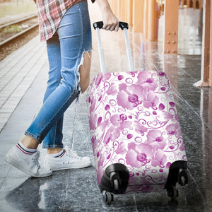 Orchid Pattern Luggage Covers