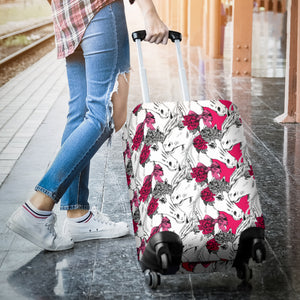 Horse Head Rose Pattern Luggage Covers