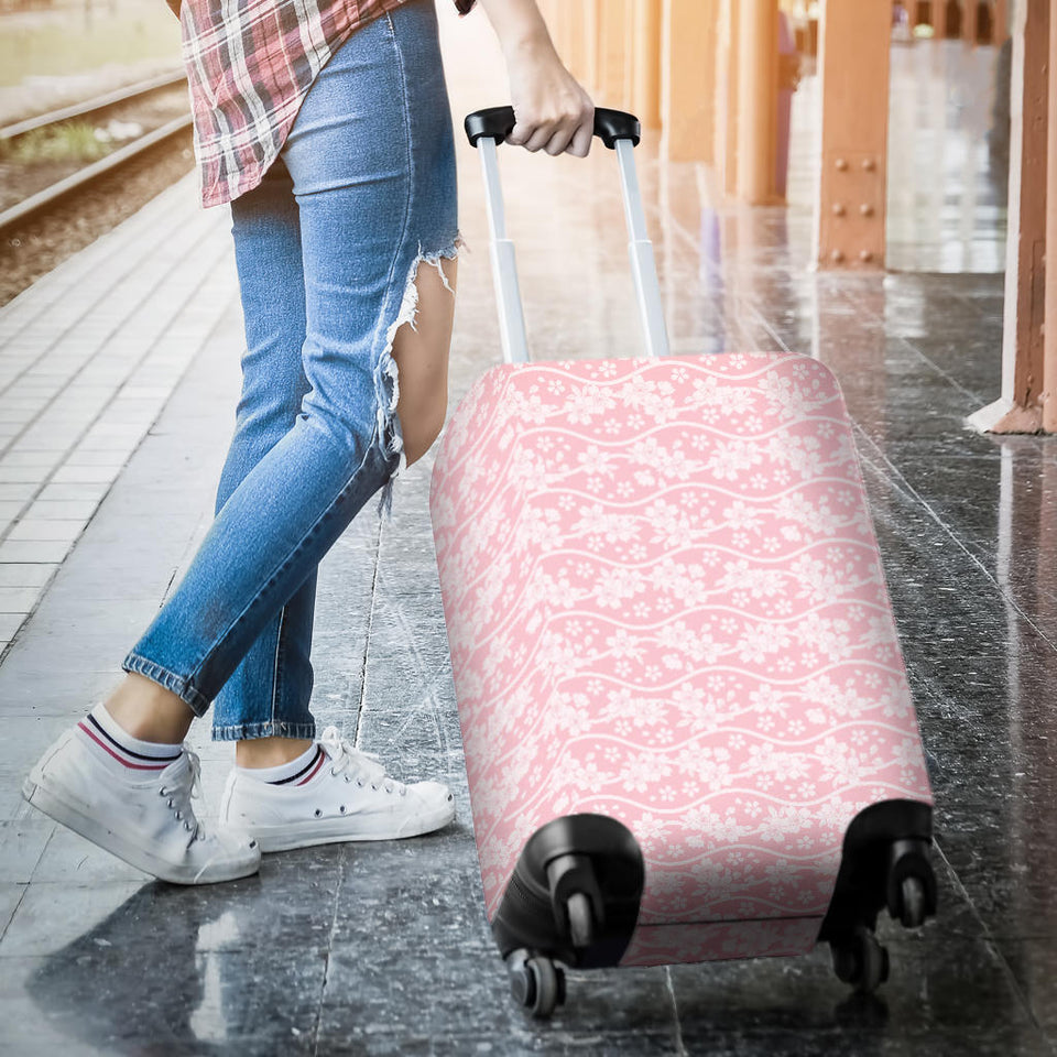 Sakura Pink Pattern Luggage Covers