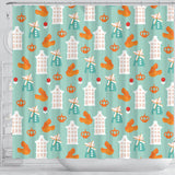 Windmill Pattern Theme Shower Curtain Fulfilled In US