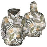Pineapple Leave flower Pattern Men Women Pullover Hoodie
