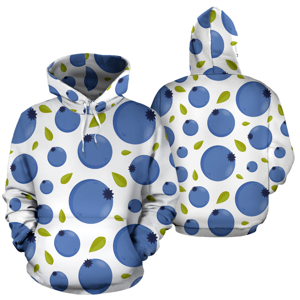 Blueberry Pattern Men Women Pullover Hoodie