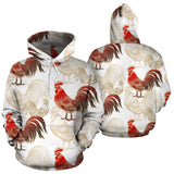 Rooster Chicken Pattern Men Women Pullover Hoodie