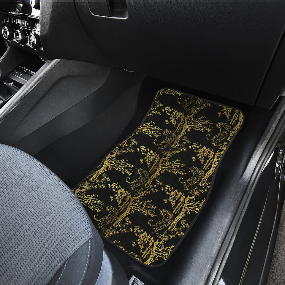 Bengal Tiger and Tree Pattern Front Car Mats
