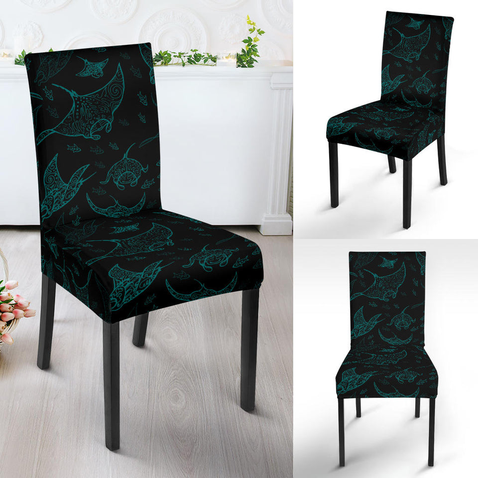 Stingray Pattern Print Design 02 Dining Chair Slipcover