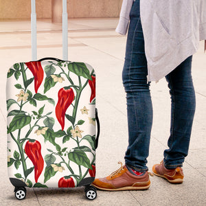 Chili Leaves Flower Pattern Luggage Covers