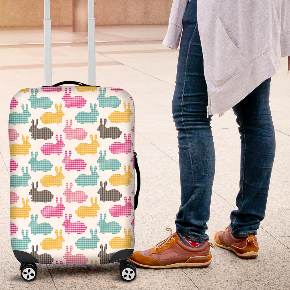 Colorful Rabbit Pattern Luggage Covers