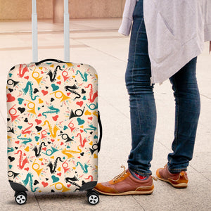 Saxophone Pattern Background Luggage Covers