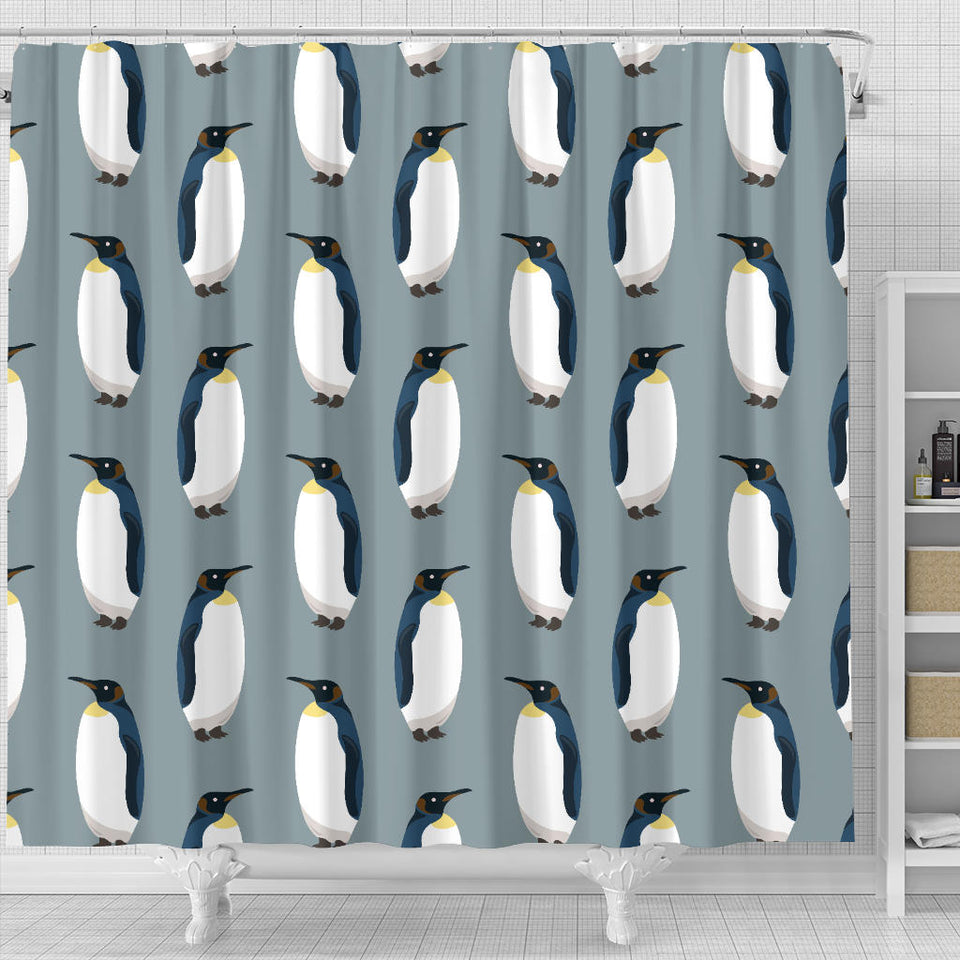 Penguin Pattern Theme Shower Curtain Fulfilled In US