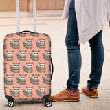 Raccoon Heart Pattern Luggage Covers