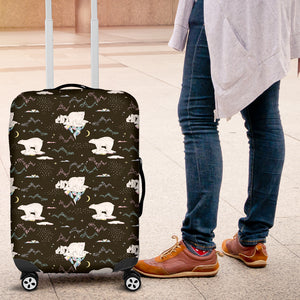 Polar Bear Pattern Background Luggage Covers