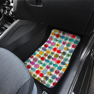 Colorful Sheep Pattern Front Car Mats