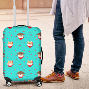 Shiba Inu Japanese Hat Pattern Luggage Covers