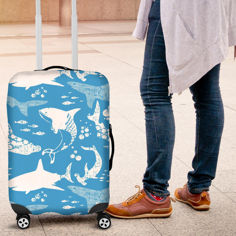 Shark Pattern Blue Theme Luggage Covers