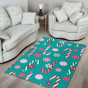 Christmas Candy Pattern Area Rug