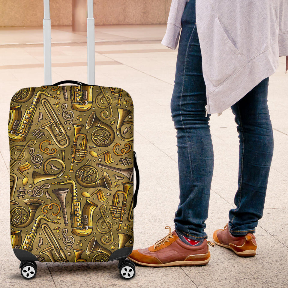 Saxophone Gold Pattern Luggage Covers