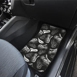 Dinosaur T-rex Head Pattern Front Car Mats