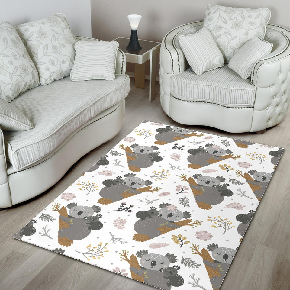 Koala Mom and Baby Pattern Area Rug