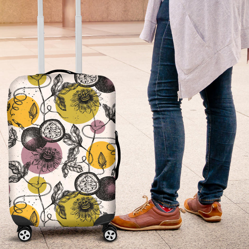 Passion Fruit Pattern Background Luggage Covers