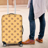 American Football Ball Pattern Yellow Background Luggage Covers
