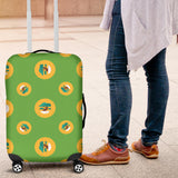Bonsai Pattern Green Background Luggage Covers